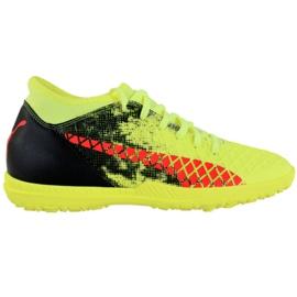 Scarpe da calcio Puma Future 18.4 Tt M 104339 01 nero, verde, arancione giallo