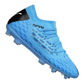 Scarpe da calcio Puma Jr Future 5.3 Netfit Fg Jr 105806-01 blu