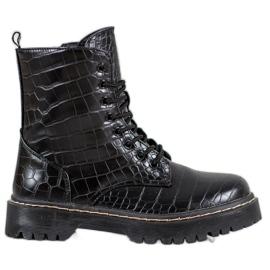 SHELOVET Lavoratori alla moda con ecopelle nero