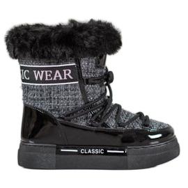 Bella Paris Stivali da neve alla moda classici grigio