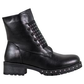 J. Star Lavoratori alla moda con strass nero