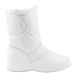Stivaletti stivali da neve bianchi 69 bianco