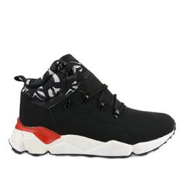Scarpe sportive isolate F33-1 nere nero