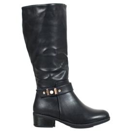 SHELOVET Stivali eleganti in pelle nero