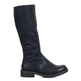 SHELOVET Stivali con montone nero