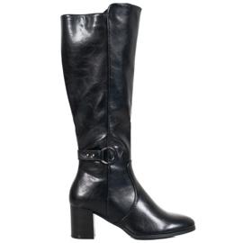 Stivali con fibbia VINCEZA nero