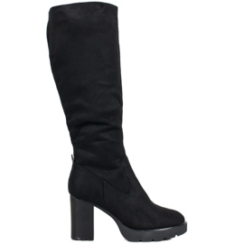 SHELOVET Eleganti stivali sopra il ginocchio nero
