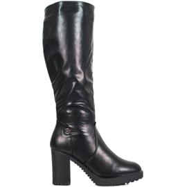 SHELOVET Stivali sulla piattaforma nero