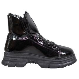 Bella Paris Sneakers Con Vernice nero