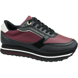 Tommy Hilfiger Tommy Sneaker con marchio retrò W FW0FW04305 Gby rosso