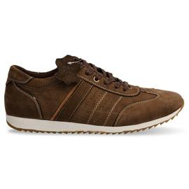 Scarpe Sneakers Pelle NAT. N45 marrone