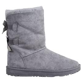 Haver Stivali da neve caldi con fiocchi grigio