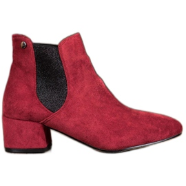 Ideal Shoes Stivali Jodhpur con glitter rosso