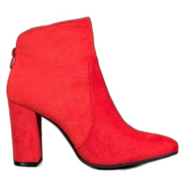 Ideal Shoes Stivaletti classici rosso