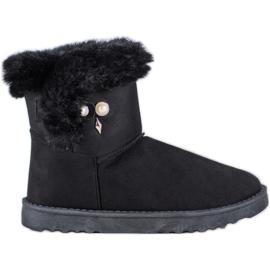 SHELOVET Stivali da neve con perla nero