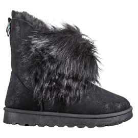 Bella Paris Stivali da neve con pelliccia nero