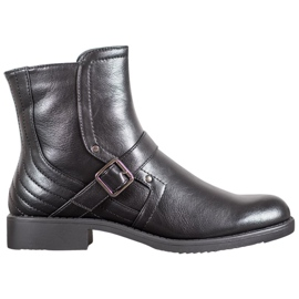 J. Star Boots On Flat Heel nero