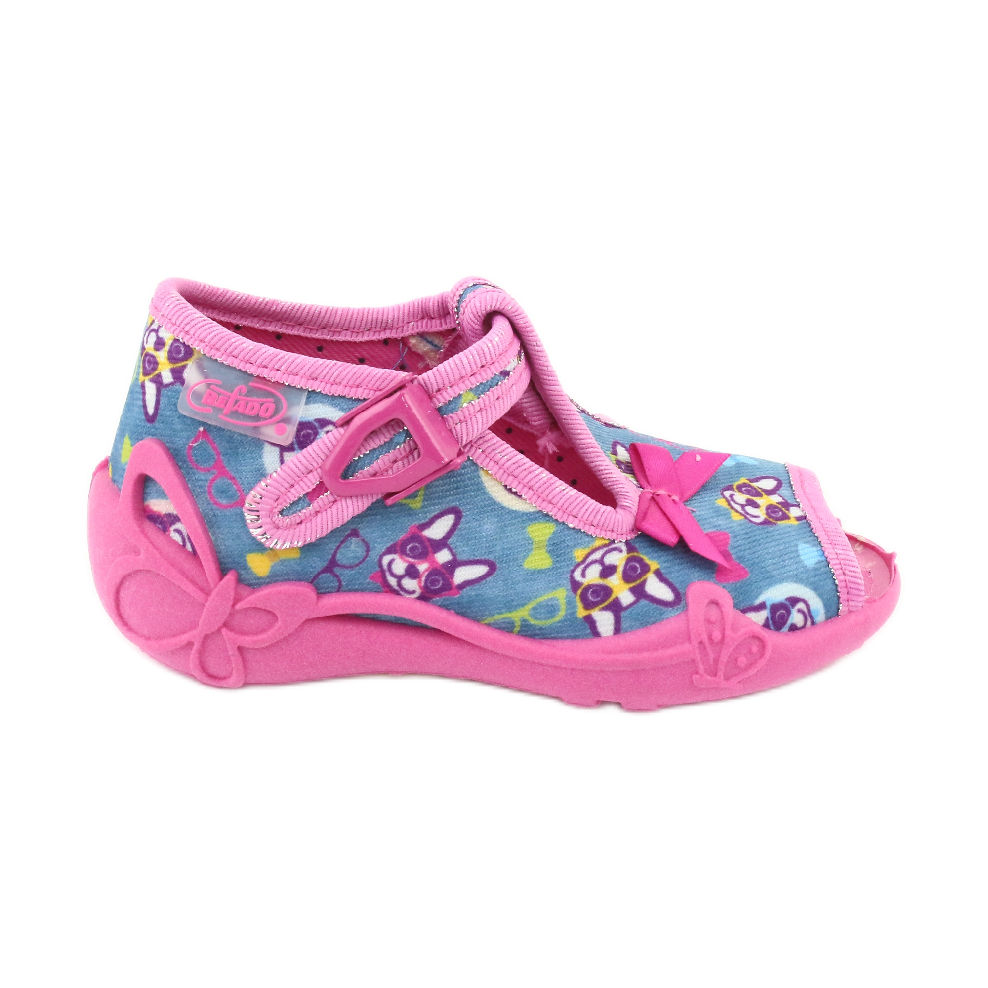 Scarpe per bambini rosa Befado 213P113 blu multicolore