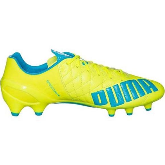 Scarpe da calcio Puma Evo Speed 1.4 Lth Fg M 103615 03 giallo giallo