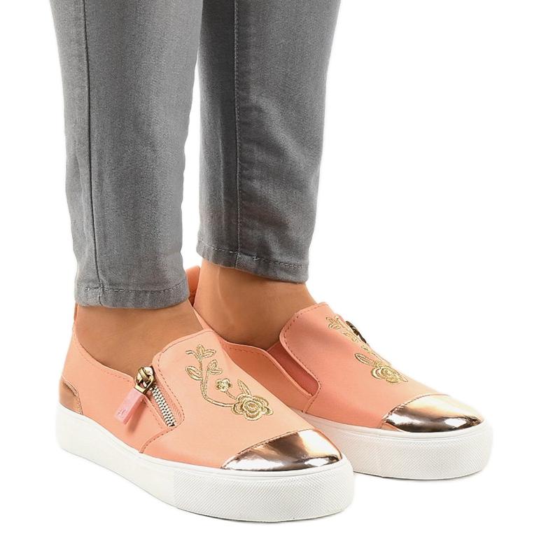 Sneakers senza lacci classiche rosa A-89