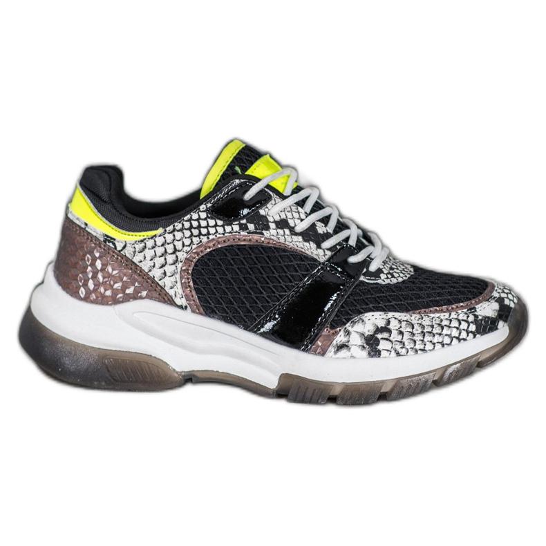 Kylie Sneakers comode di Snake Print multicolore