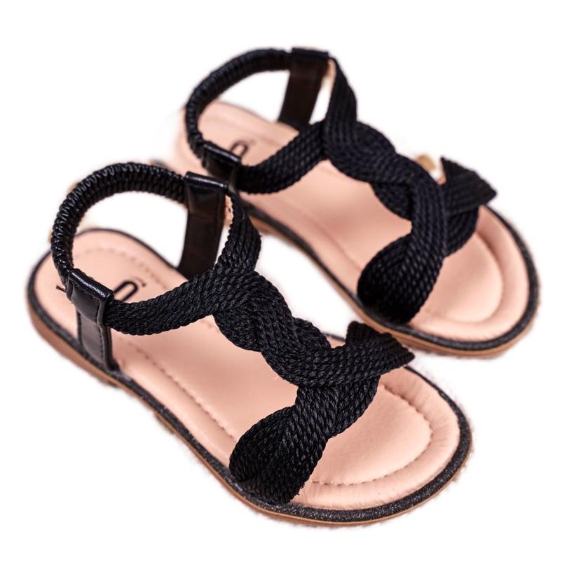 FRROCK Sandali neri per bambini Lamado
