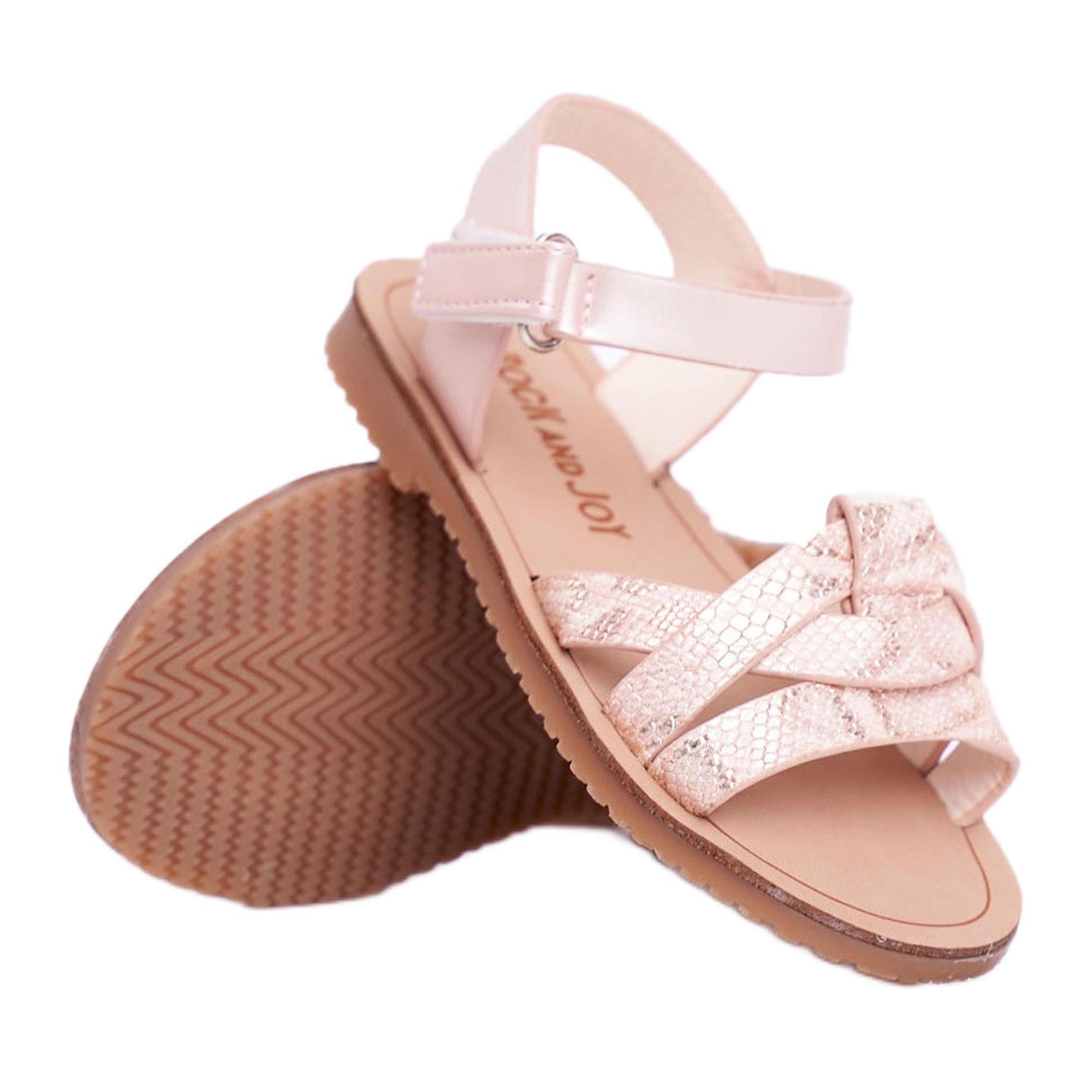 FRROCK-sandali-calzature-per-bambini-bambini-rosa-giallo-eco-pelle