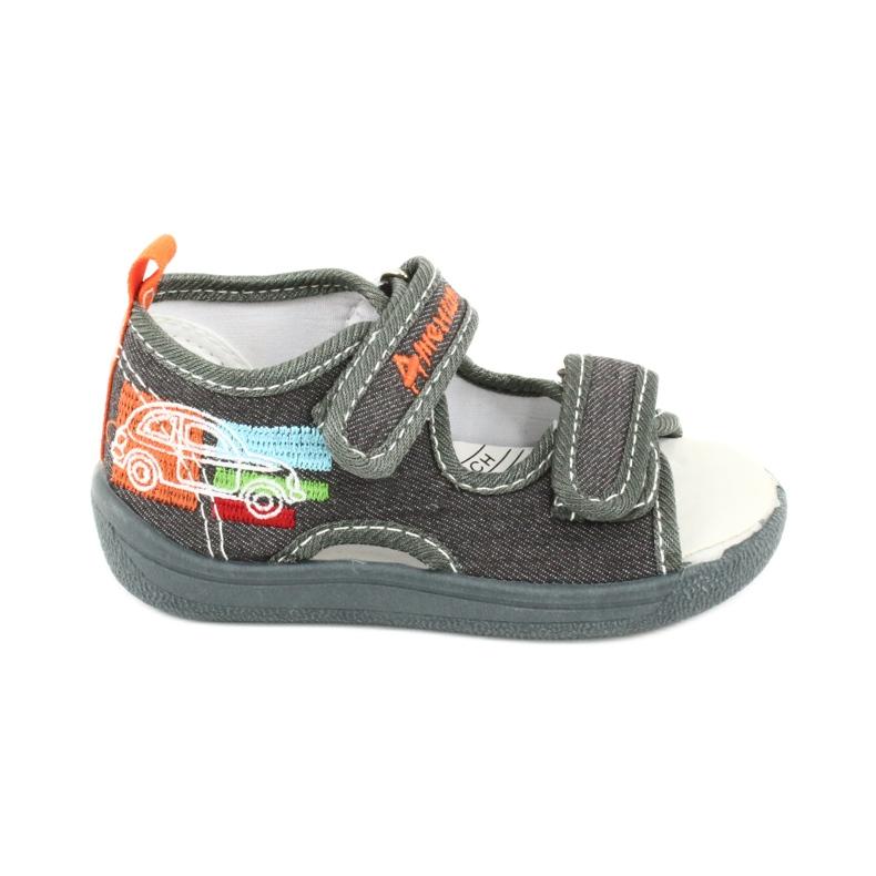 American Club Sandali americani scarpe per bambini sottopiede in pelle TEN46