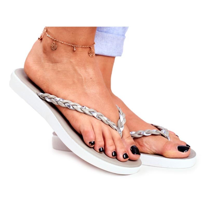 SEA Pantofole da donna Infradito Cintura intrecciata Grigio Peggie