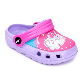 Pantofole per bambini Foam Crocs Pony viola porpora