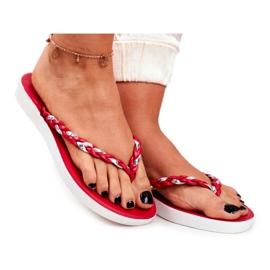 SEA Ciabatte infradito da donna con pantofole rosse Peggie rosso