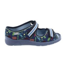 Scarpe per bambini Befado 969Y161 blu navy multicolore