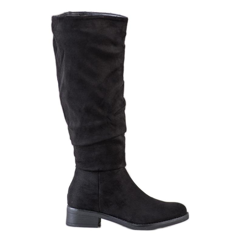 Sweet Shoes Stivali di camoscio nero