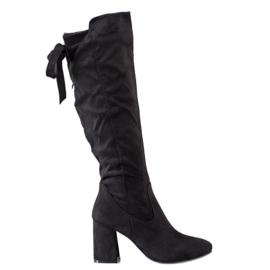 Flyfor Stivali alla moda sulla posta nero