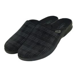 Pantofole da uomo Befado pantofole 548m011 nero 3