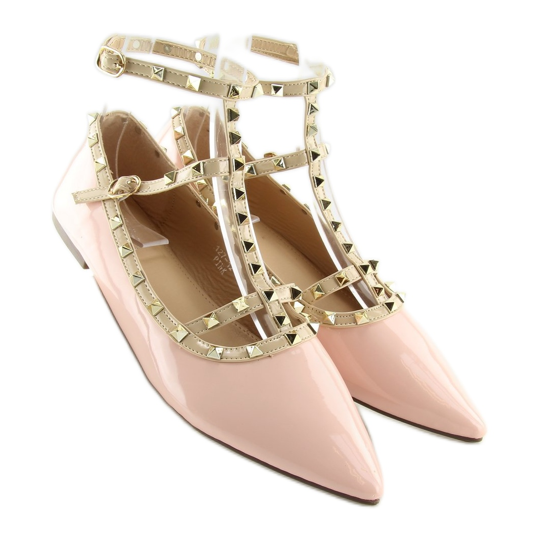 Raccogliere e03a6 55ef7 Ballerine con borchie rosa 127-12 rosa