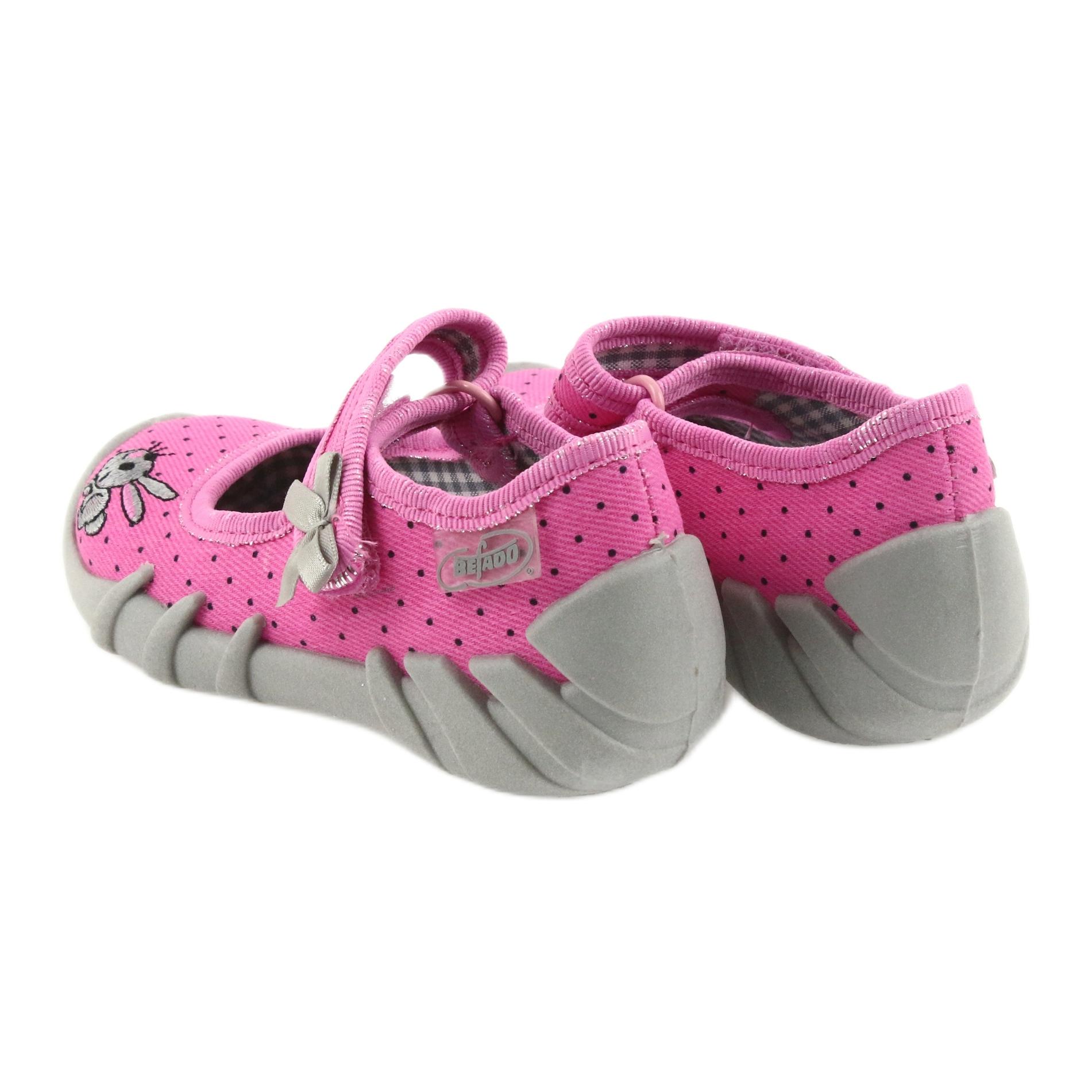 miniatura 5 - Pantofole da ballerina Befado per bambini 109P169 nero grigio rosa