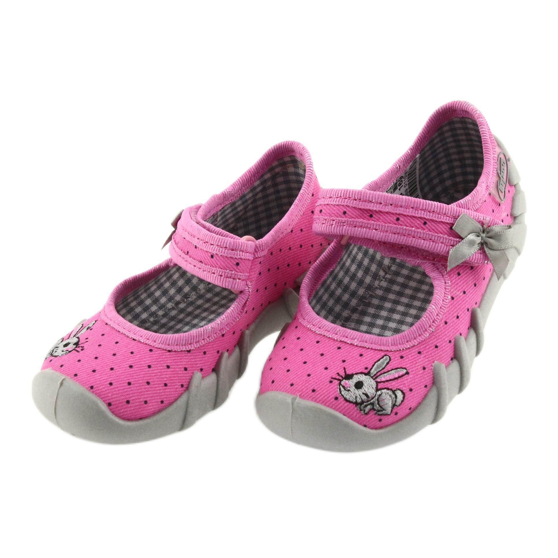 miniatura 3 - Pantofole da ballerina Befado per bambini 109P169 nero grigio rosa