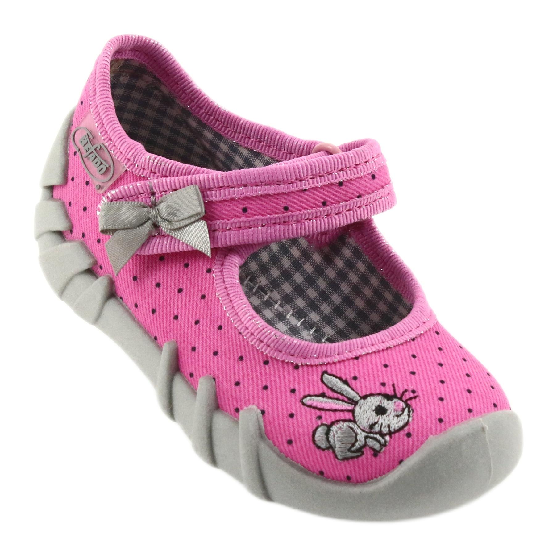 miniatura 2 - Pantofole da ballerina Befado per bambini 109P169 nero grigio rosa