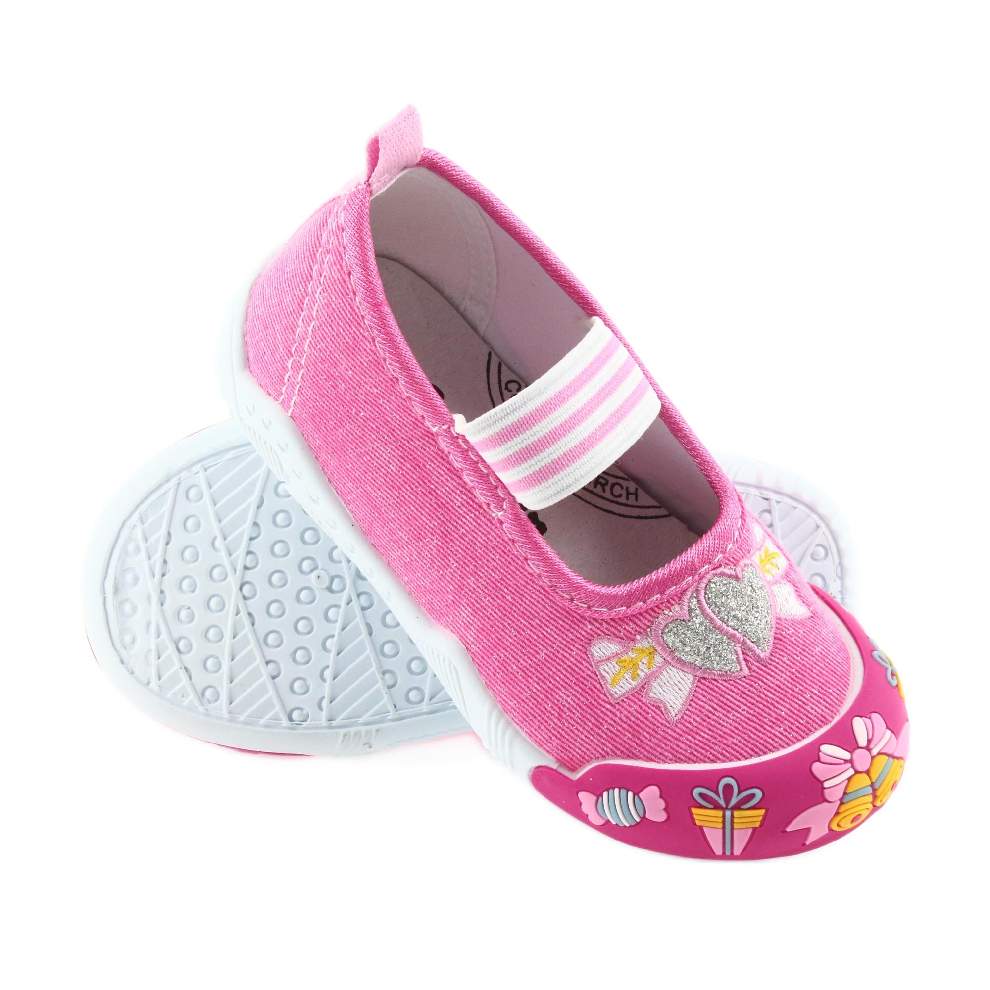 meet 39016 02e1a American Club rosa Scarpe da ginnastica americane per bambini su un  sottopiede in pelle elastica