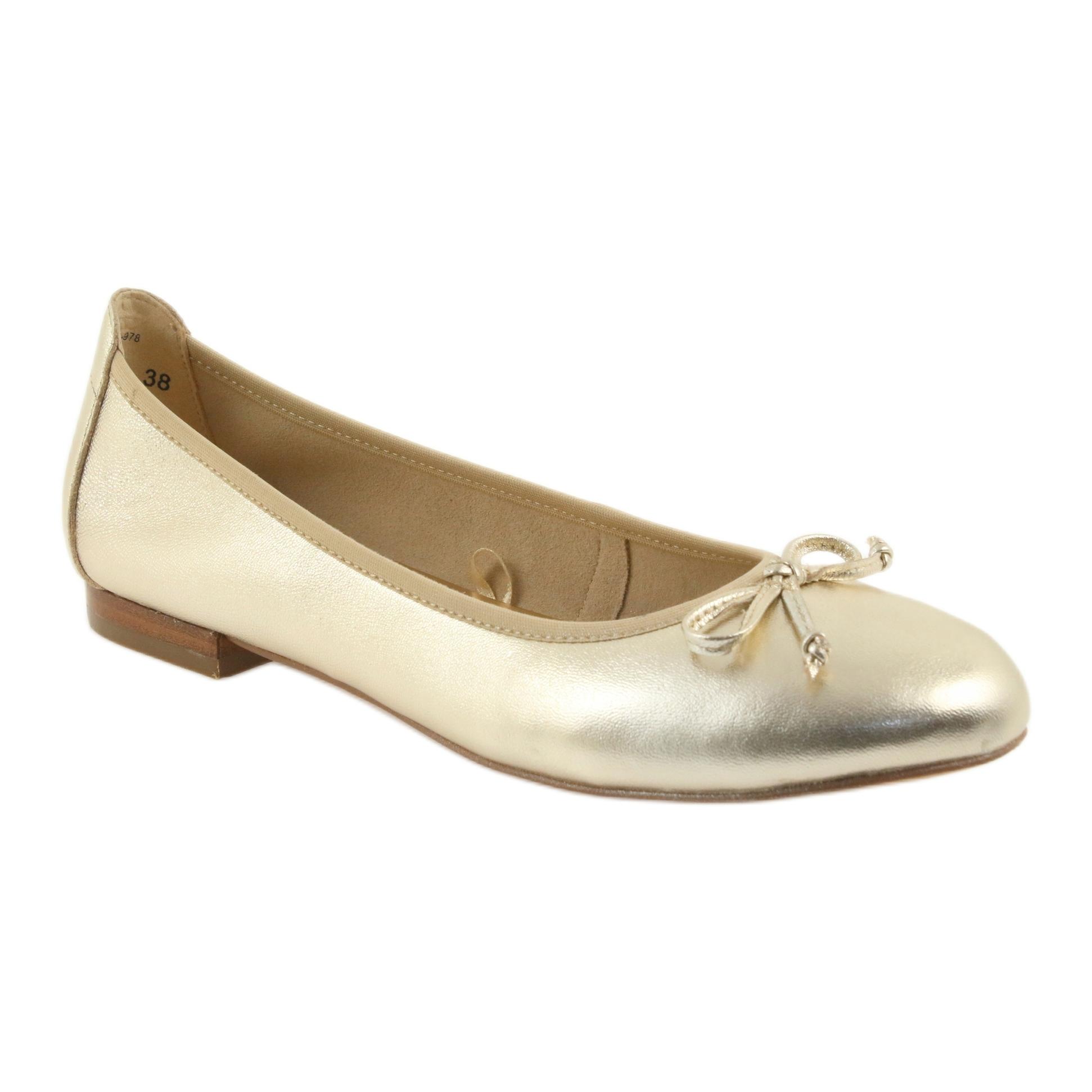 c64a3dd2aa Giallo Caprice ballerine oro scarpe per donna 22102