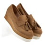 Corina marrone Mocassini Camel On Wedge immagine 6
