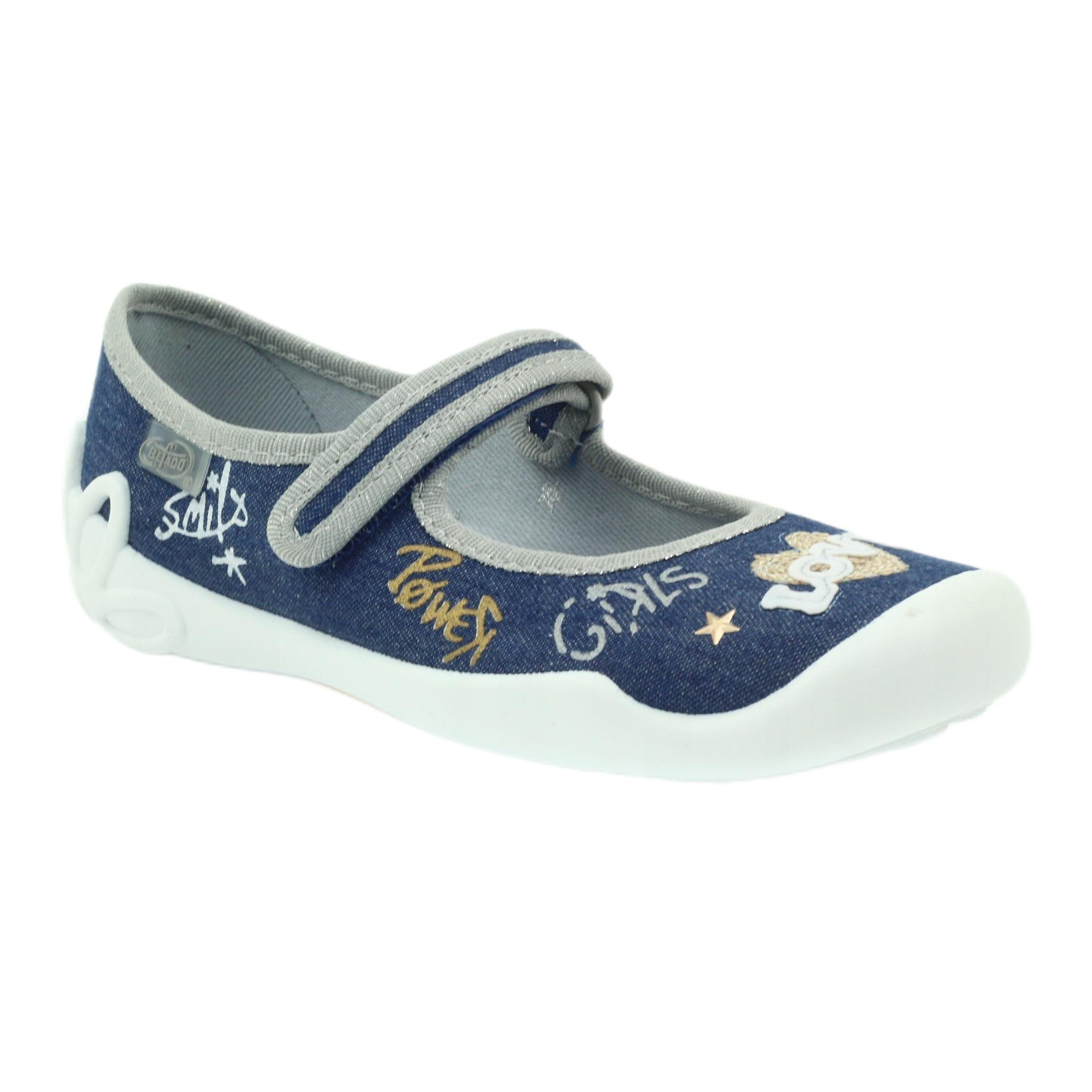 miniatura 3 - Scarpe per bambini Befado 114Y313 blu grigio