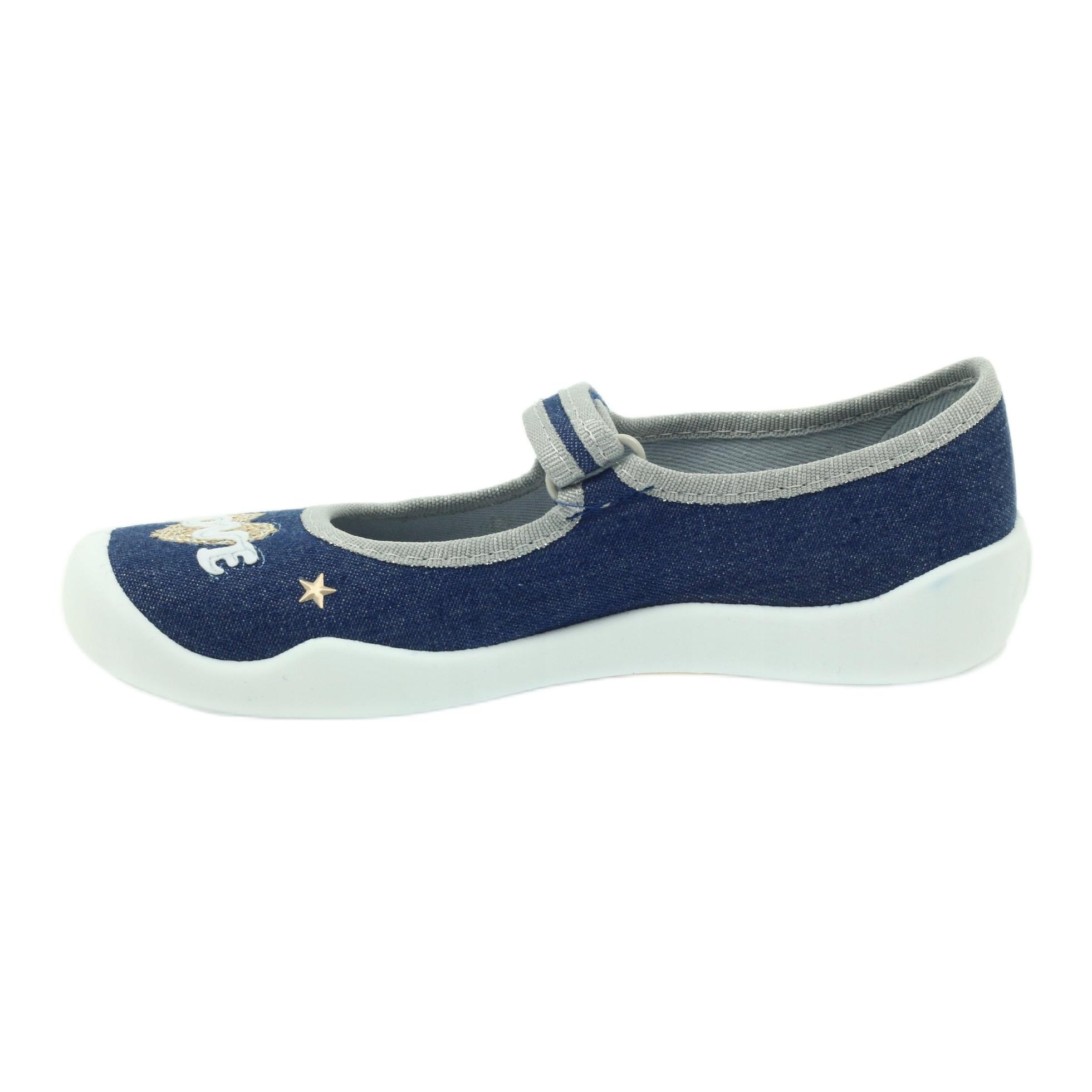 miniatura 4 - Scarpe per bambini Befado 114Y313 blu grigio