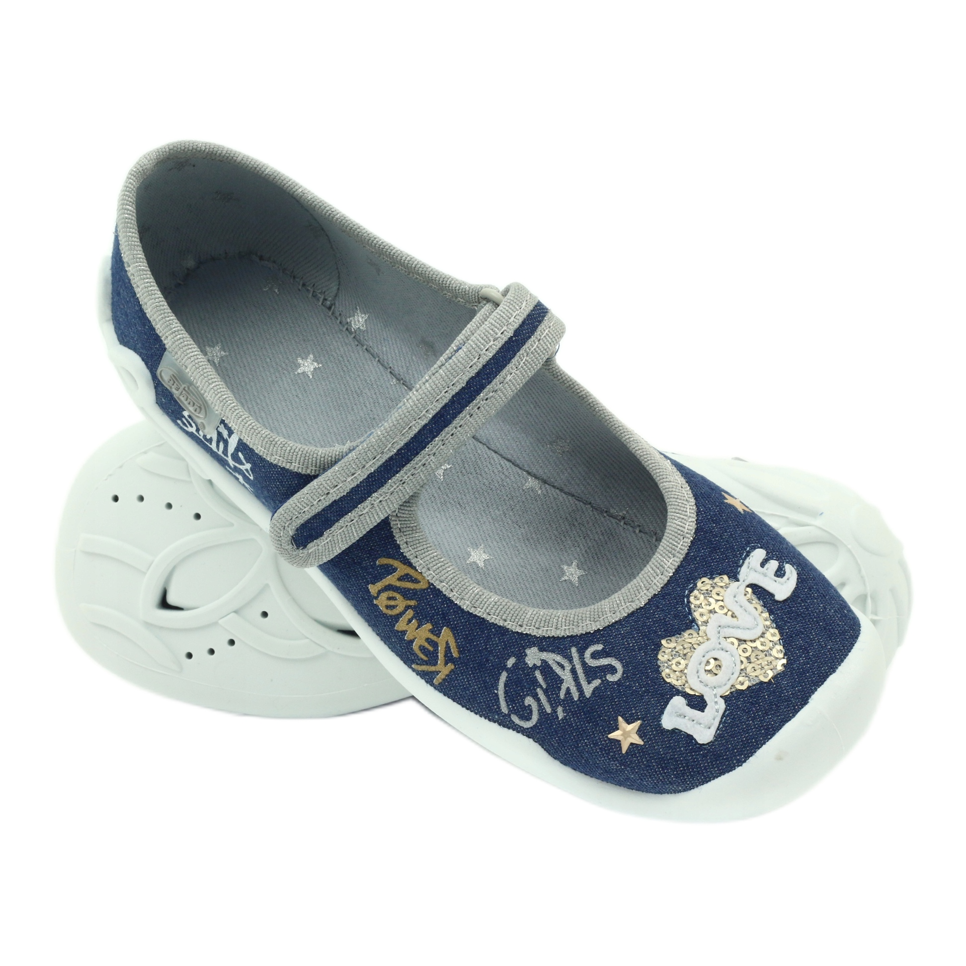 miniatura 6 - Scarpe per bambini Befado 114Y313 blu grigio