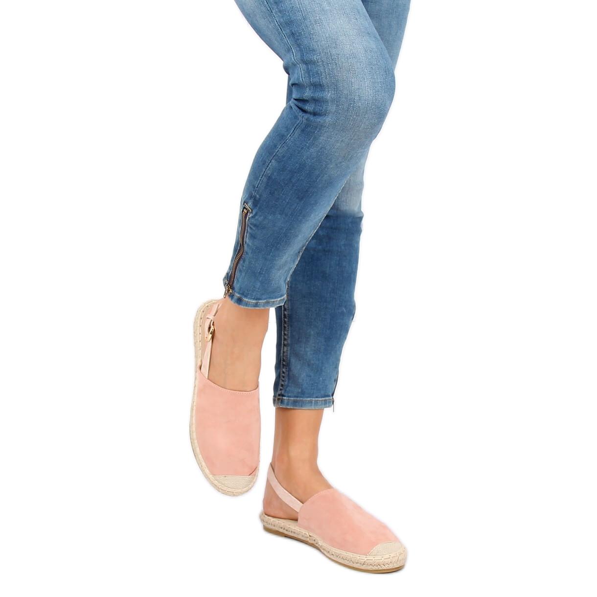 ampia scelta di colori negozio online varietà di disegni e colori Espadrillas con tacco a punta rosa HH-119 rosa