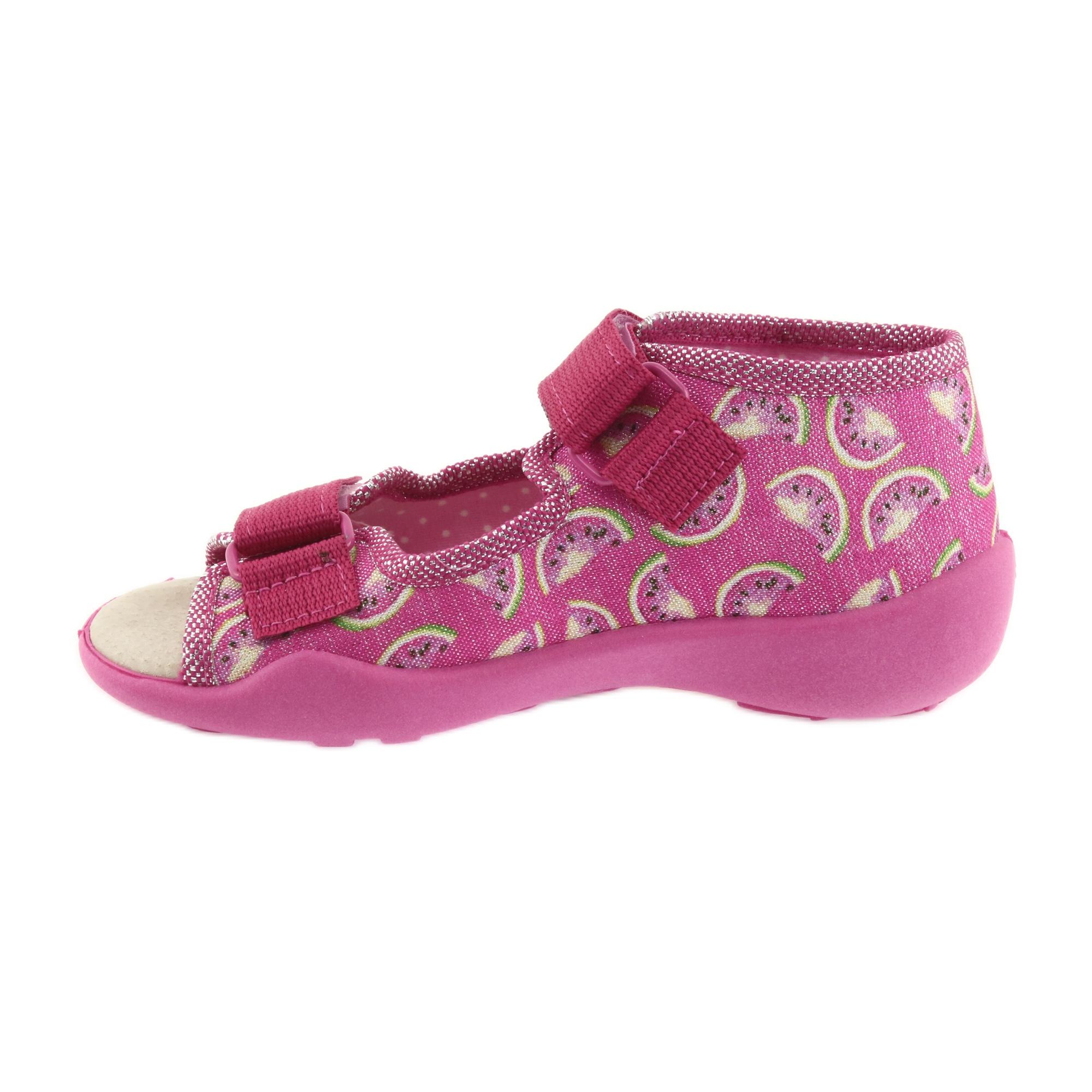 miniatura 3 - Sandali Befado scarpe da bambino 342P004 angurie grigio verde giallo rosa