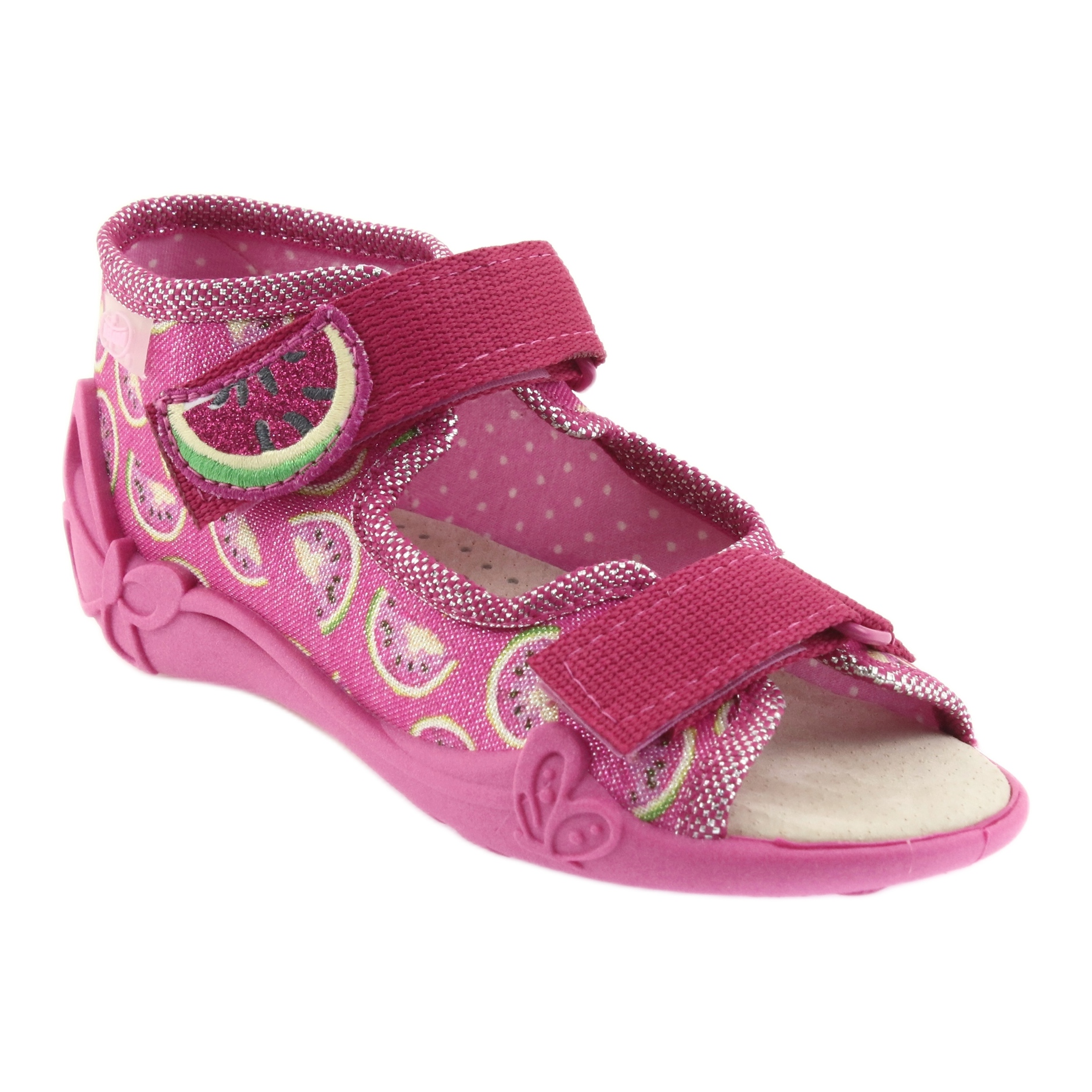 miniatura 2 - Sandali Befado scarpe da bambino 342P004 angurie grigio verde giallo rosa