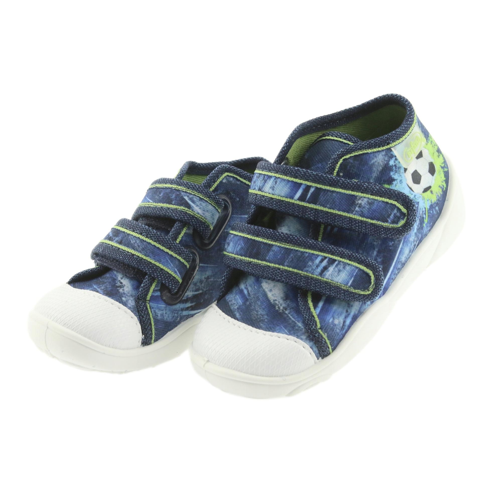 miniatura 4 - Scarpe da calcio per bambini Befado 212P058 blu verde marina