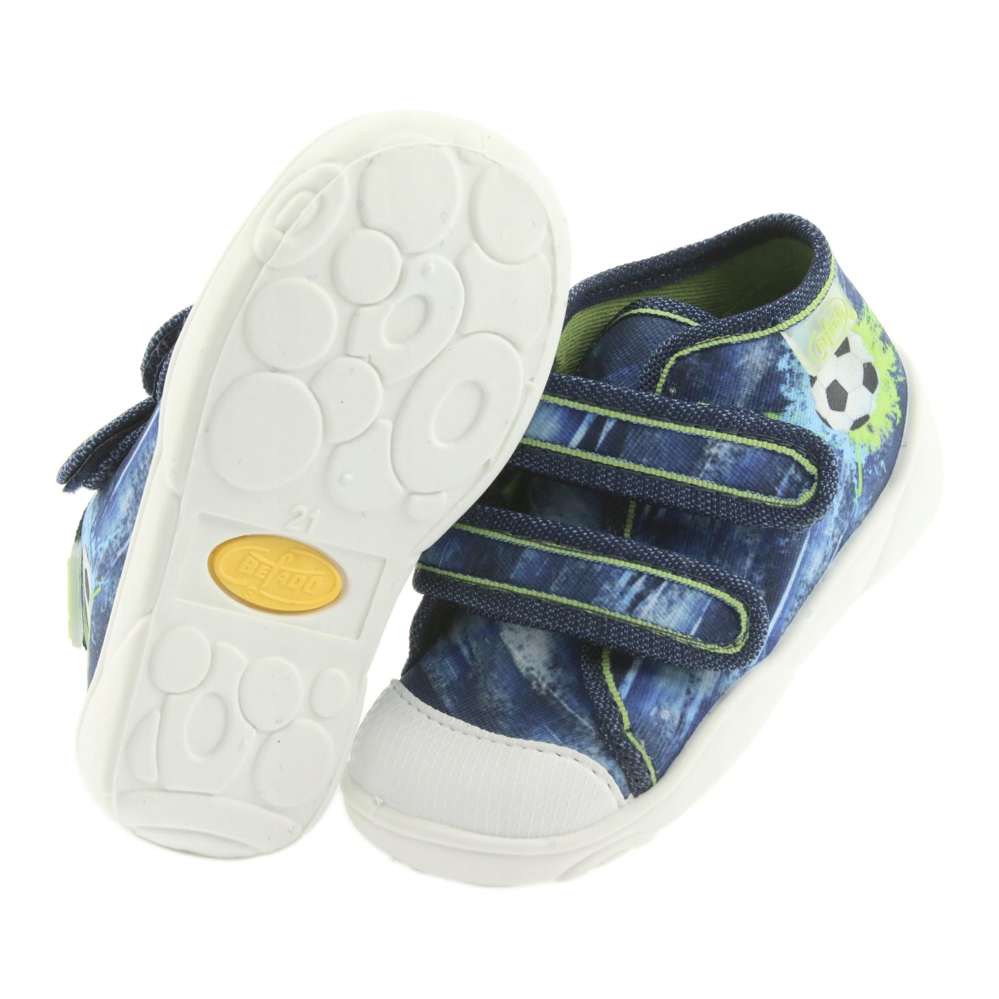 miniatura 6 - Scarpe da calcio per bambini Befado 212P058 blu verde marina